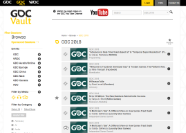 #GDC2018: disponibili i talk nel Vault