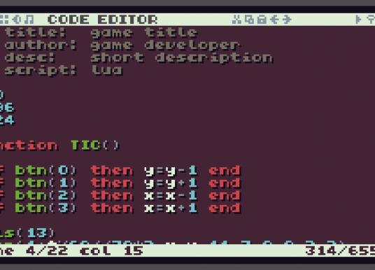 TIC-80, introduzione alla fantasy console